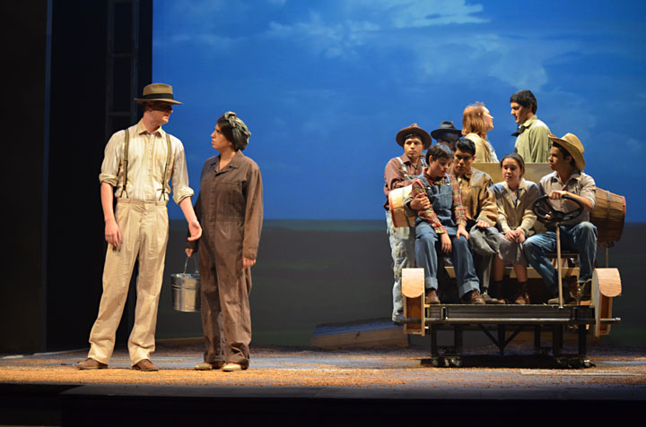Image from The Grapes of Wrath at San Jose State University