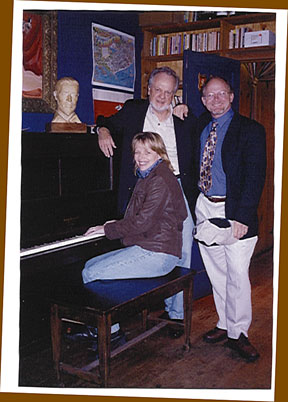 Image of Joan Rensick, James Kent, and Kevin visiting Cannery Row