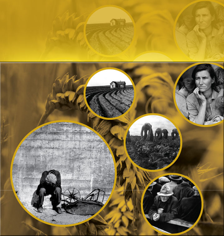 Image of portion of San Jose State University's Grapes of Wrath poster