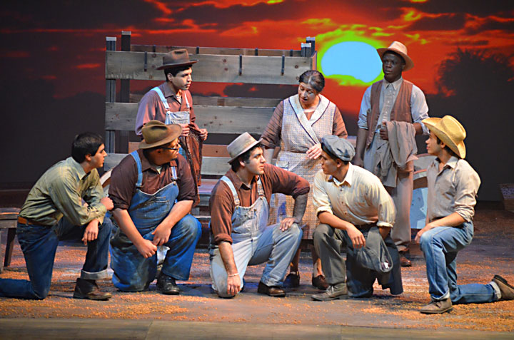 Image from Steppenwolf Theatre's Grapes of Wrath at San Jose State University