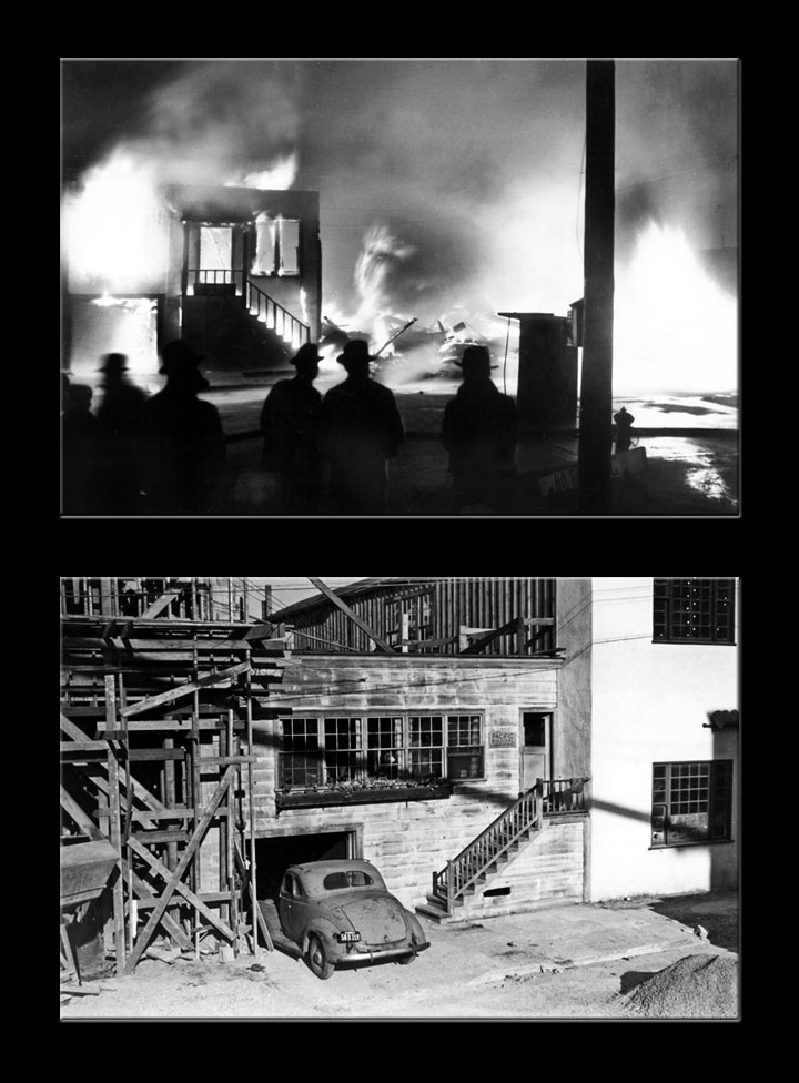 Image of the Cannery Row fire of 1936