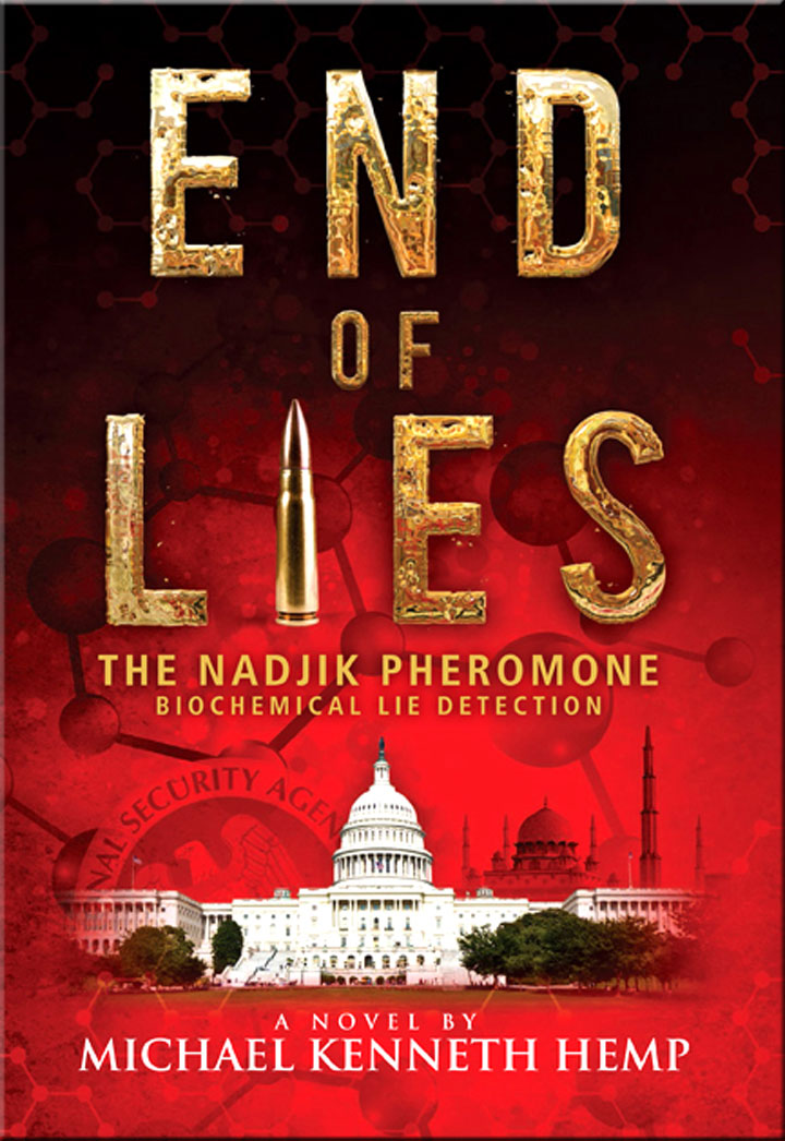 Image from cover of Michael Kenneth Hemp's novel, End of Lies