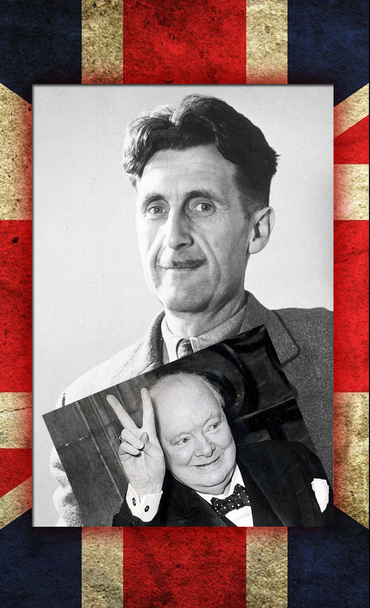 Image of Winston Churchill and George Orwell