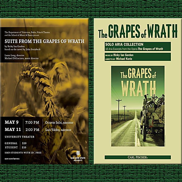 Image of Grapes of Wrath poster and song collection