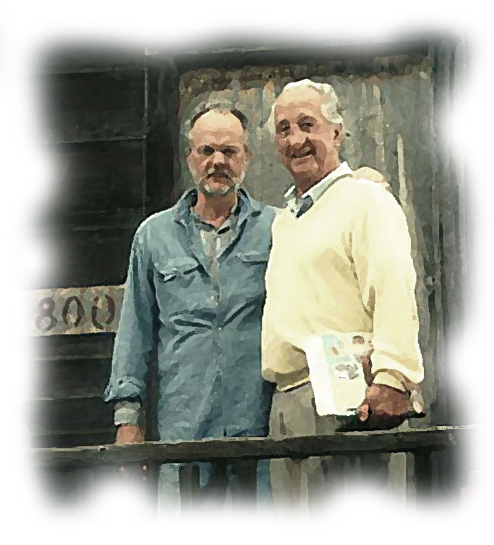 Image of Jim Kent and Ed Larsh at Doc's Lab on Cannery Row