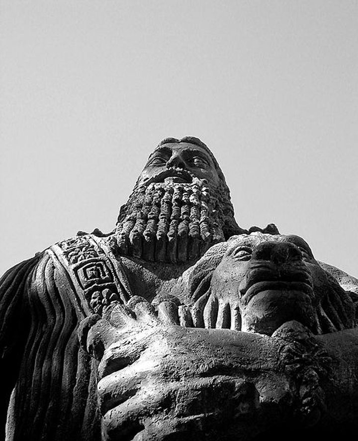 Image of statue of the Sumerian epic hero Gilgmesh