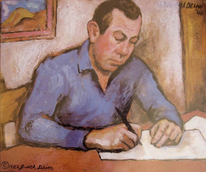 Image of Judith Deim's portrait of John Steinbeck
