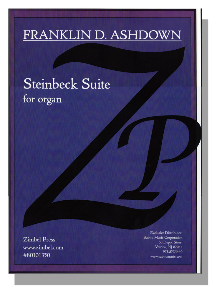 Cover image of Steinbeck Suite, a new work for pipe organ