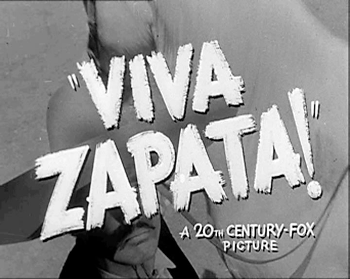 Image of title frame from the motion picture Viva Zapata!