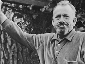 Image of John Steinbeck outdoors, safe from public view
