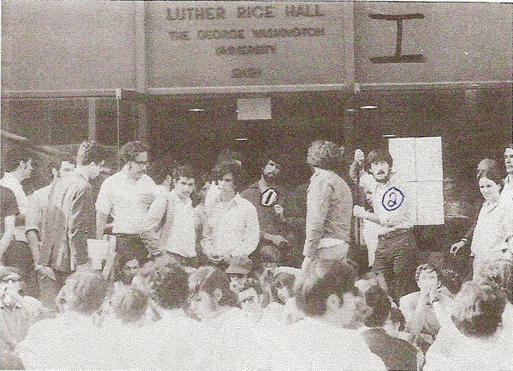 Image of anti-Vietnam War protest at George Washington University