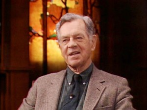 Image of Joseph Campbell interviewed on Cannery Row
