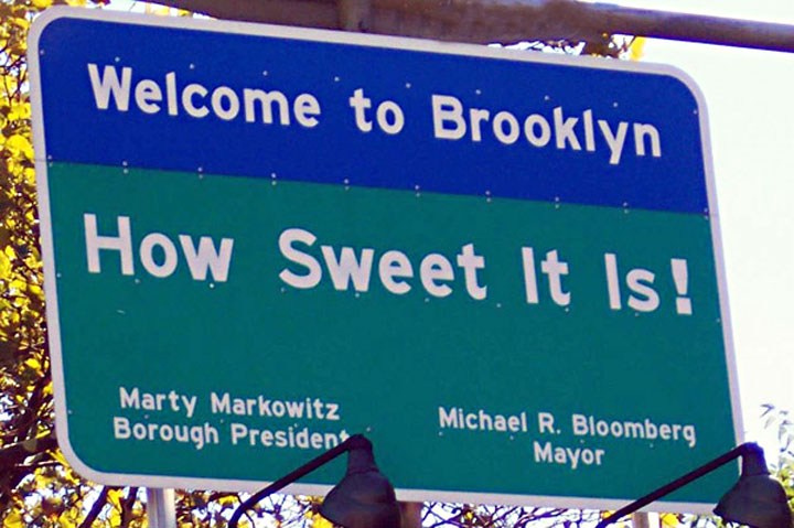 Image of Brooklyn welcome sign traveling from New Jersey