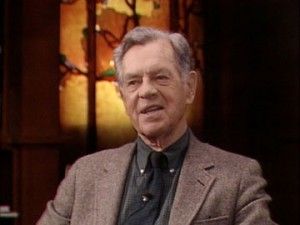 Image of the late Joseph Campbell on PBS