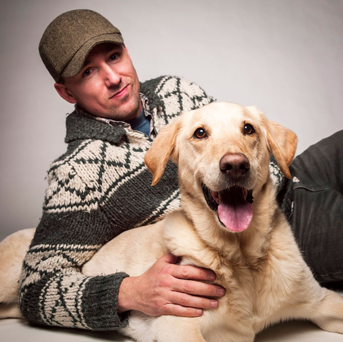 Image of Benoit Denizet-Lewis with labrador Casey