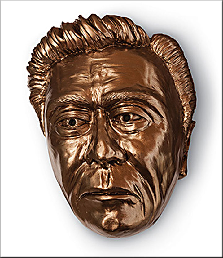 Image of George from Of Mice and Men, sculpture by Lee Aytes