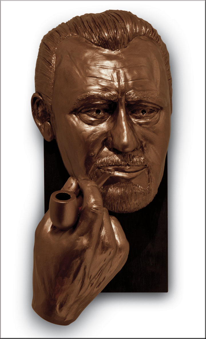 Image of John Steinbeck, sculpture by Lew Aytes