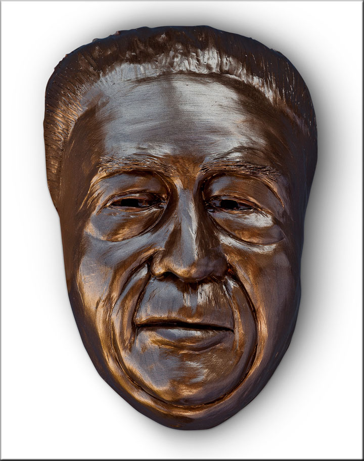 Image of Lee Chong from Cannery Row, sculpture by Lew Aytes