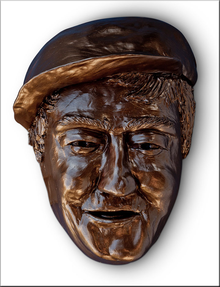 Image of Mack from Cannery Row, sculpture by Lew Aytes