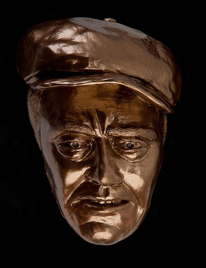 Image of Tom Joad from The Grapes of Wrath, sculpture by Lew Aytes