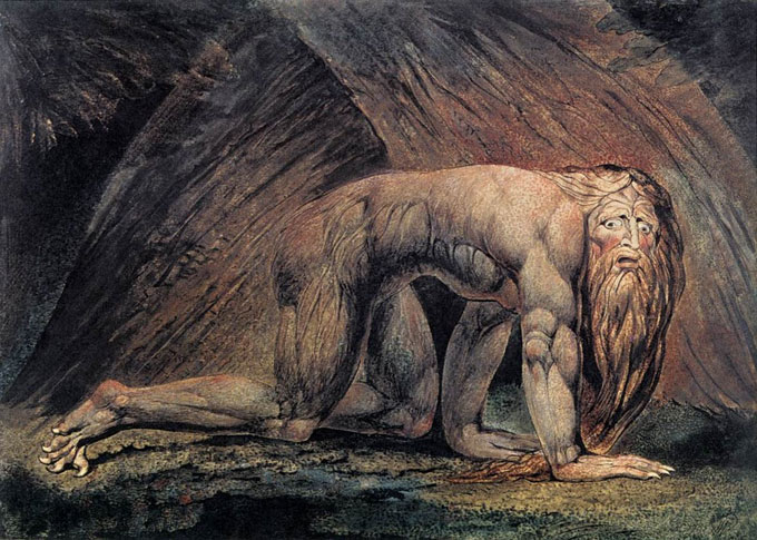 "Image of William Blake's ""Nebuchadnezzar"""