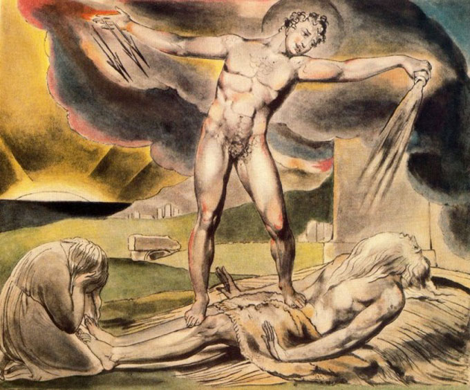 "Image of William Blake's ""Satan Smiting Job"""