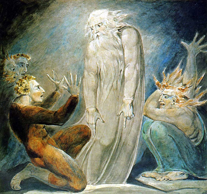 "Image of William Blake's ""The Witch of Endor"""