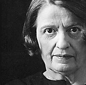 Image of Ayn Rand, critic of John Steinbeck and Orson Welles