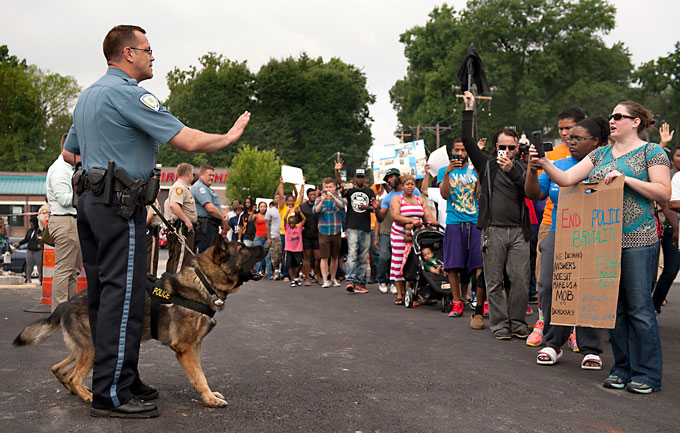 Image of Ferguson, Missouri police confrontation
