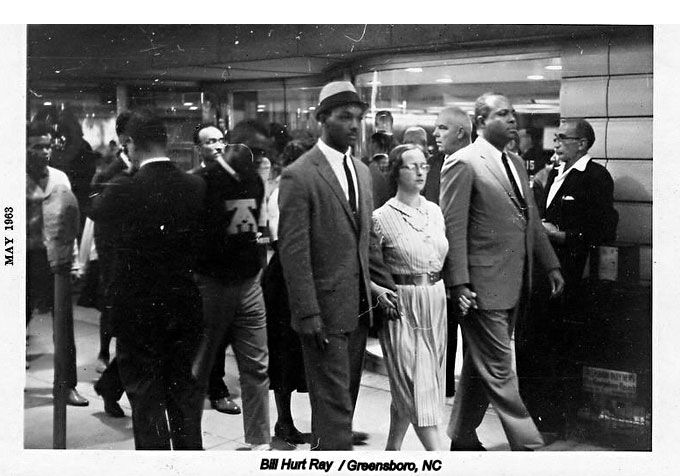 Image of 1963 civil rights action in Greensboro, N.C.