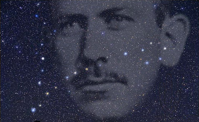 Image of John Steinbeck and the constellation Pisces