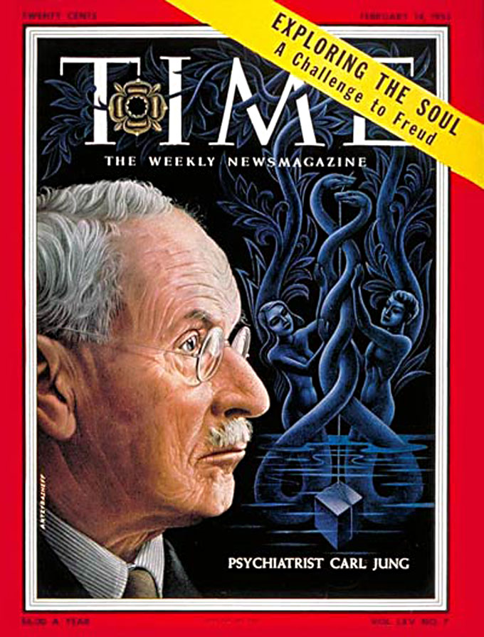Image of Carl Jung on the cover of Time magazine