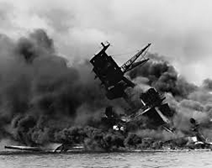 Image of the attack on Pearl Harbor