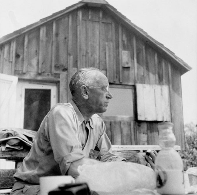 Image of Aldo Leopold, subject of Michael J. Lannoos' book