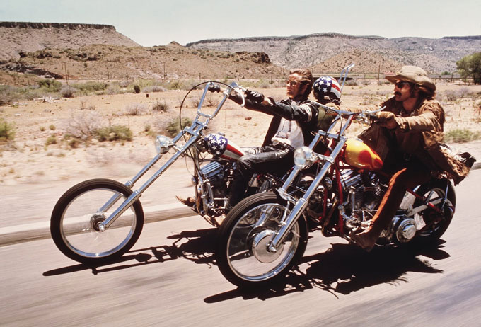 Image of Peter Fonda and Dennis Hopper in the motion picture Easy Rider