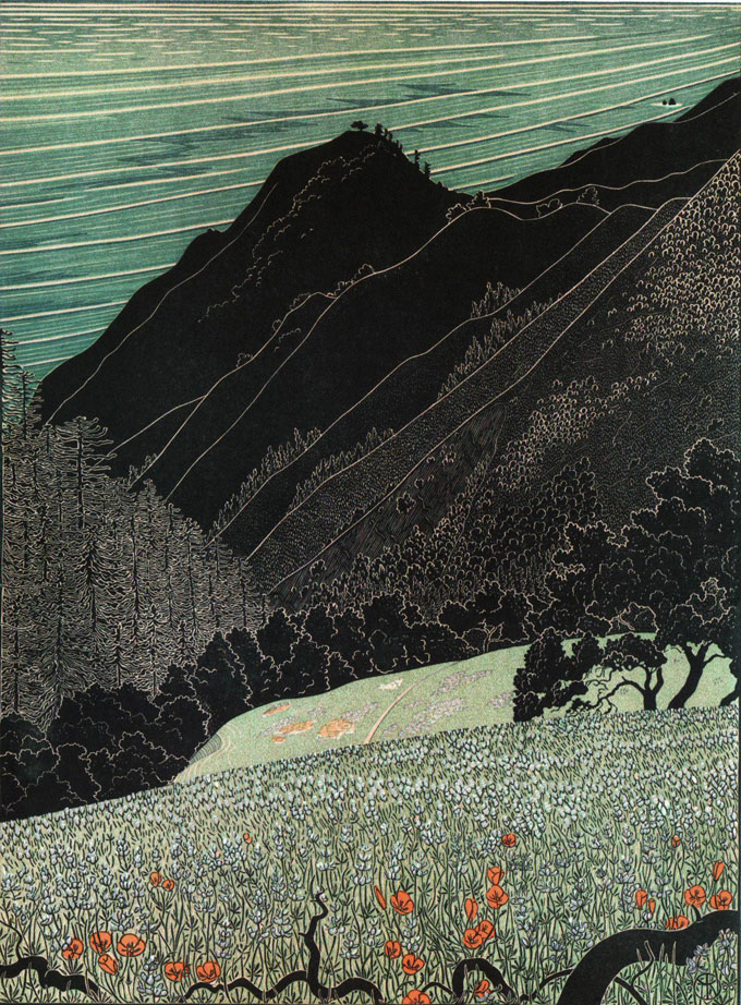 Image of Big Sur Spring Sunset, 1990, by Tom Killion