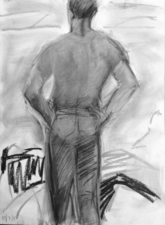 Portrait image of Bill of Monterey, California by the artist CKline (Caroline)