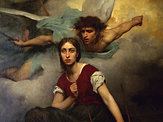 Image of Joan of Arc hearing the voice of God