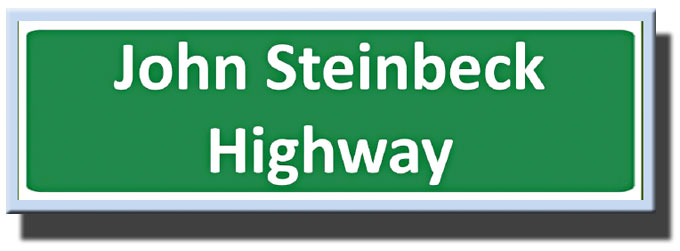Image of John Steinbeck Highway 101 sign