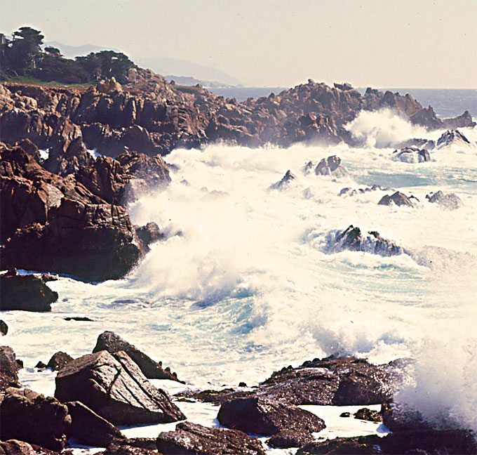 Image of Monterey Bay south of Pacific Grove