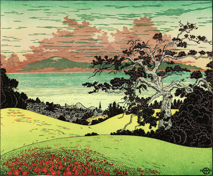 Image of Monterey Bay from Santa Cruz Pogonip, 2012, by Tom Killion