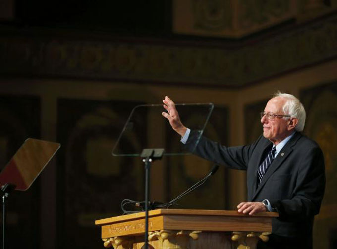 Image of Bernie Sanders at Georgetown University