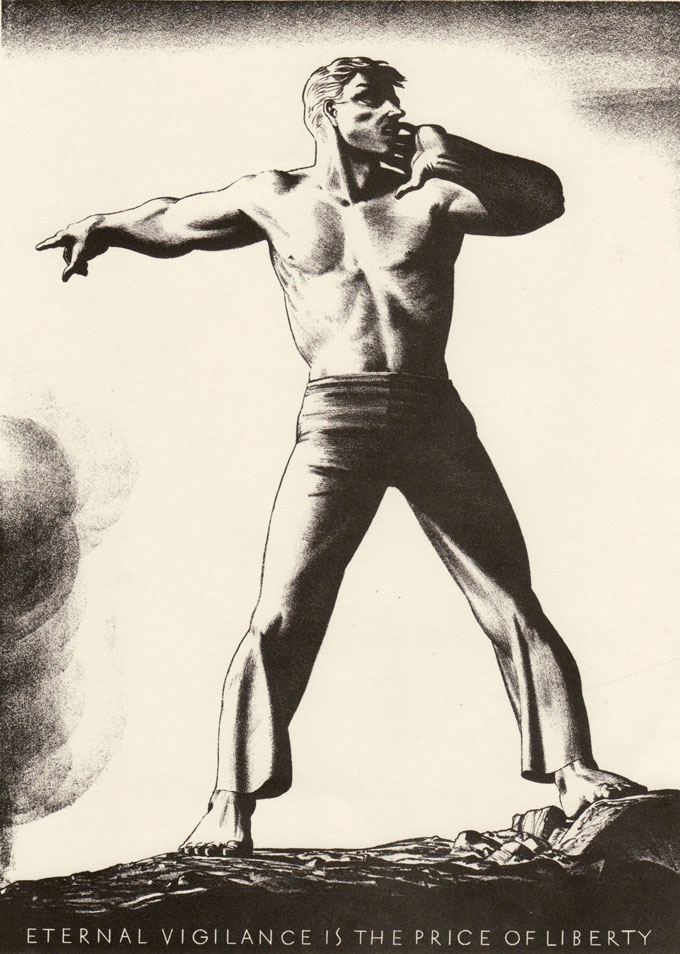 Image of drawing by Rockwell Kent