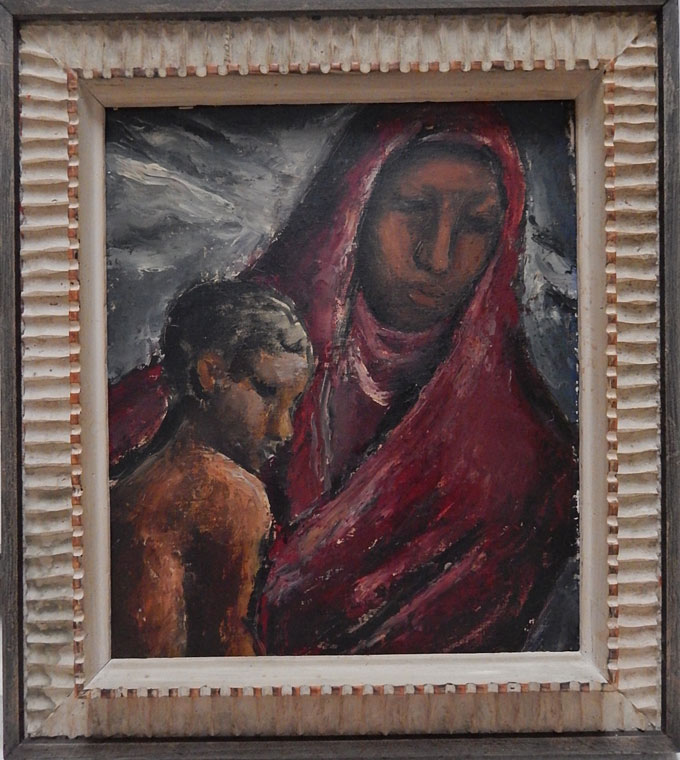 "Image of ""Black Madonna,"" painting by Judith Deim"