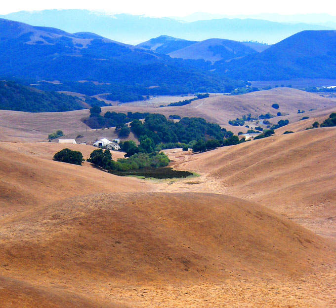 Image of ranch in the Gabilan Mountains by David A. Laws