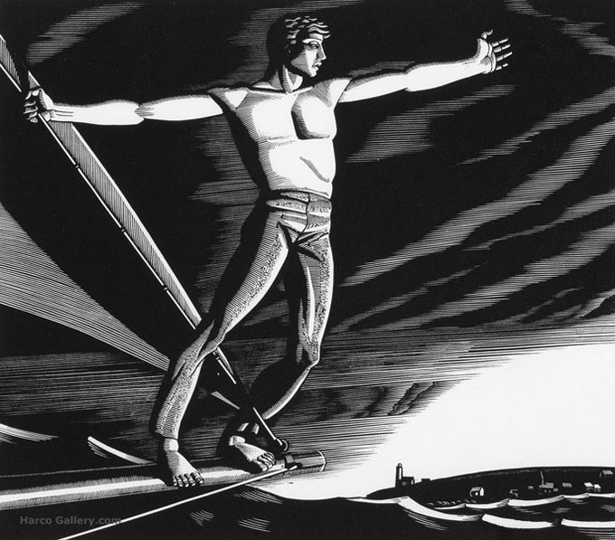 Image of Moby Dick illustration by Rockwell Kent