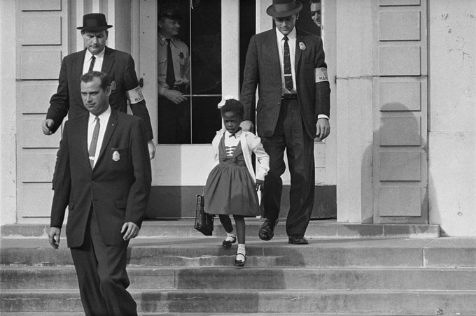 Image of Ruby Bridges in New Orleans, 1960
