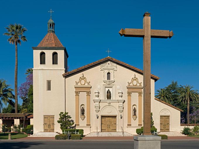 Image of Mission Santa Clara in Santa Clara, California
