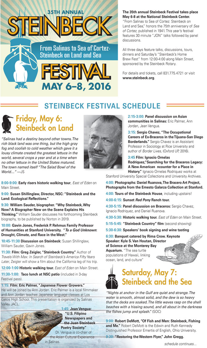 Image of the 2016 John Steinbeck Festival in Salinas, California