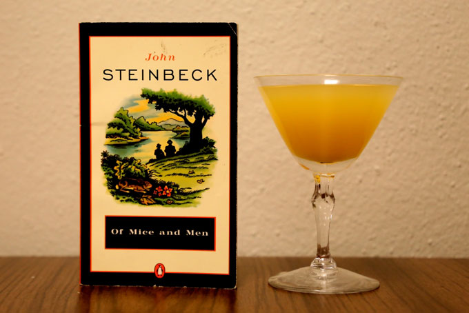 Image of a Ward 8 cocktail paired with Of Mice and Men